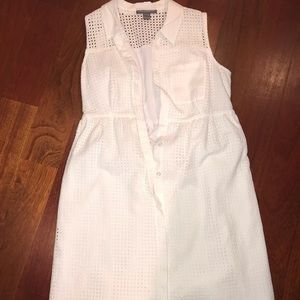 A pea in the pod white eyelet dress small